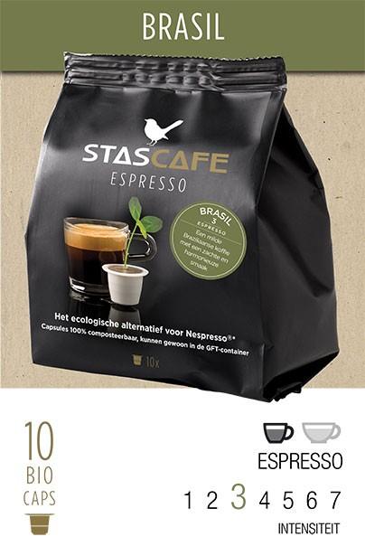 Brasil - 10 koffiecups voor Nespresso®