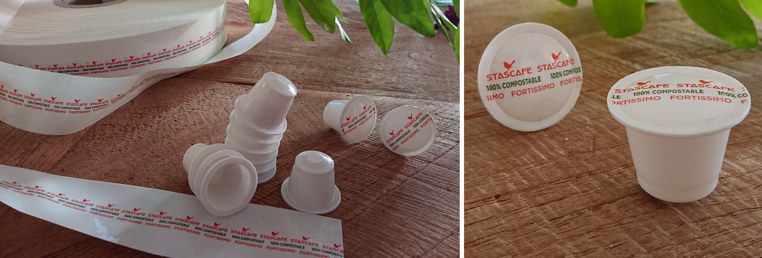 Biodegradable Nespresso coffee capsule and lidding material